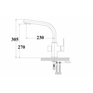 Смеситель ZorG ZR 311 YF-SATIN CLEAN WATER